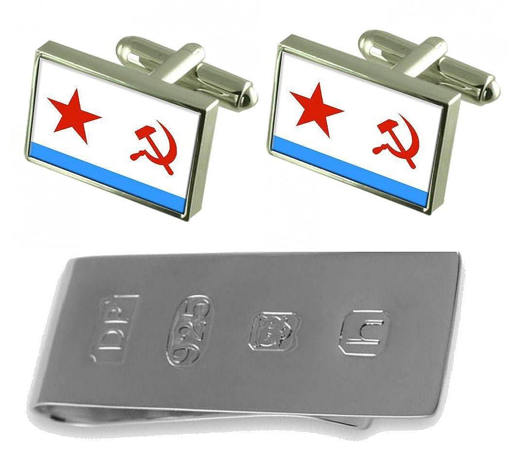 Soviet Navy Ensign Militairy USSR Flag Cufflinks /& James Bond Money Clip