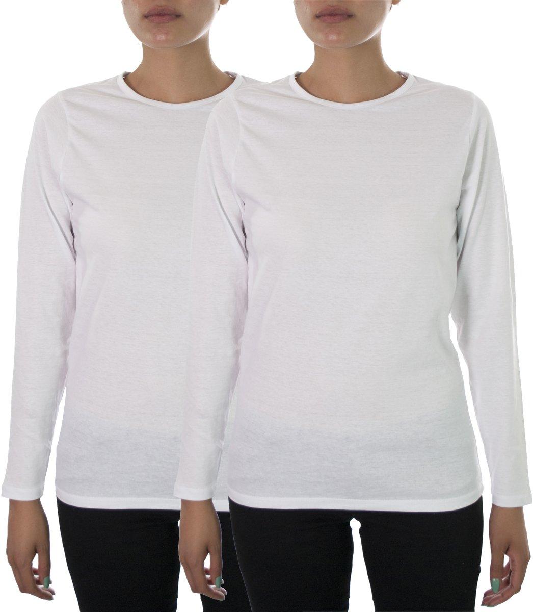 Hey Medical Uniforms SHIRT レディース B076Z2BNZM L|2 Pack White 2 Pack White L