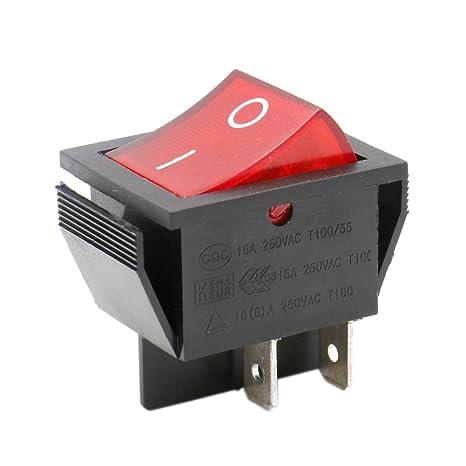 Wippenschalter Einbauschalter Kippschalter 2 polig 250V 15A Umschalter Schalter