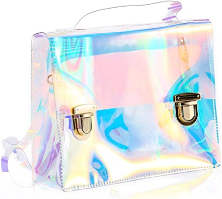 Holographic Transparent Bag Retro Hologram Clear Bag