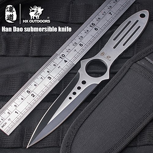 HX outdoors Scuba Diving Knife Tactical Camping Knives Double Edge Sharp Blade Cs Go Hunting Survival pocket hand tools by HX outdoors (Image #9)