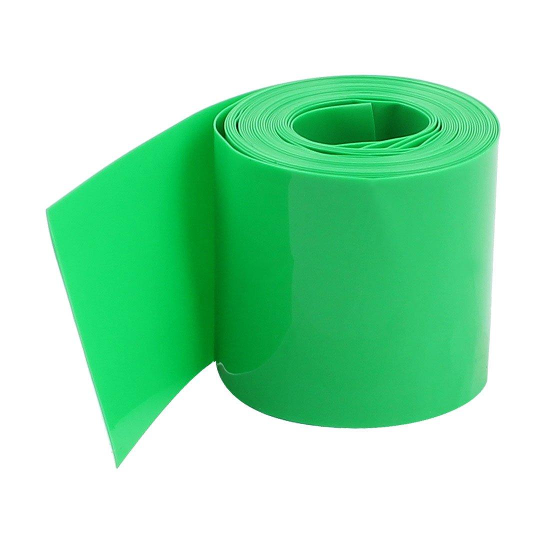 sourcing map 5 pi/èces 2 M/ÈTRES 29.5mm Vert PVC Gaine Thermo R/étractable Enveloppes pour 1 x 18650 Batterie