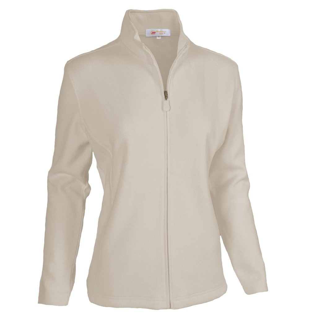 Monterey Club Ladies Classic Long sleeve Zip-up French Rib Jacket #2934