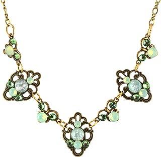 product image for Anne Koplik Limited Edition Vintage Glass Fila Necklace, Gold Plated