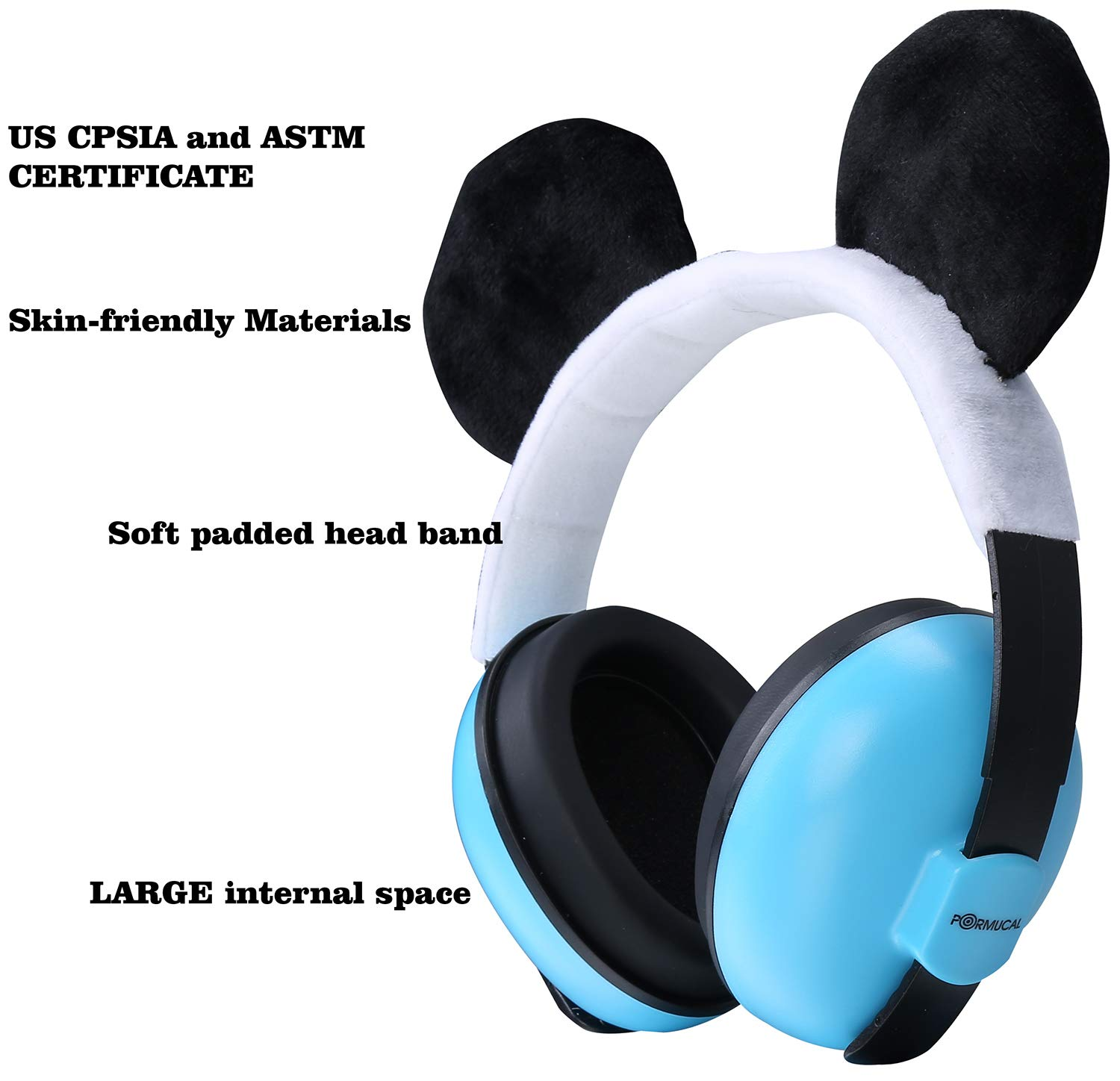 Pink Years Noise Cancelling Ear Muffs for Infant and Toddlers with Cat Ear. Baby Ear Protection for Kids for 3 Months to 2