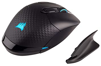CORSAIR Dark Core - RGB Wireless Gaming Mouse - 16,000 DPI Optical Sensor -  Comfortable & Ergonomic - Play Wired or Wireless (Renewed)