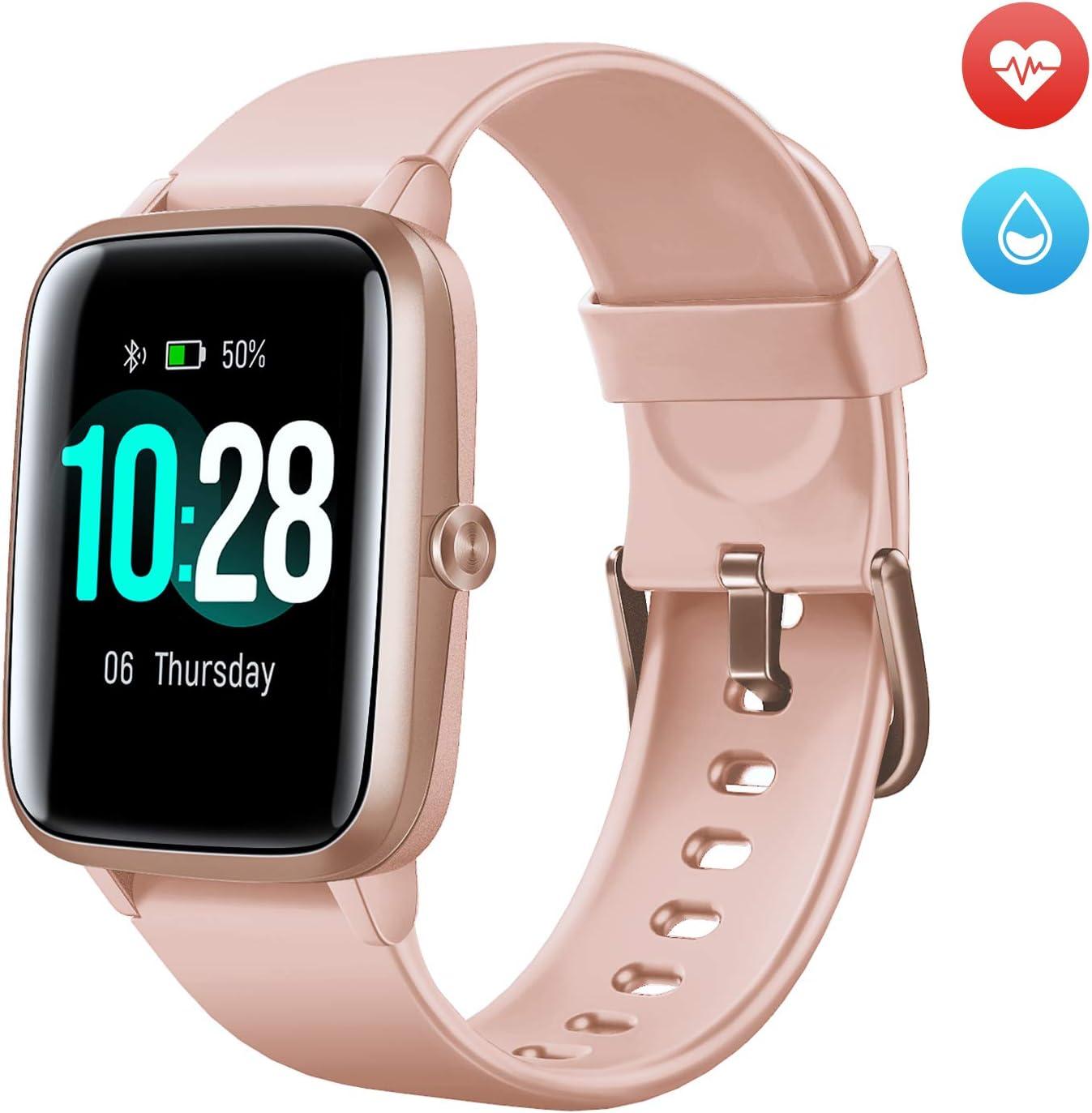 Arbily Reloj Inteligente Pantalla Táctil Completa Pulsera de Actividad Smartwatch Mujer Hombre Niño Reloj Deportivo a Prueba de Nadar Impermeable Podómetro Monitor de Sueño para iOS Android