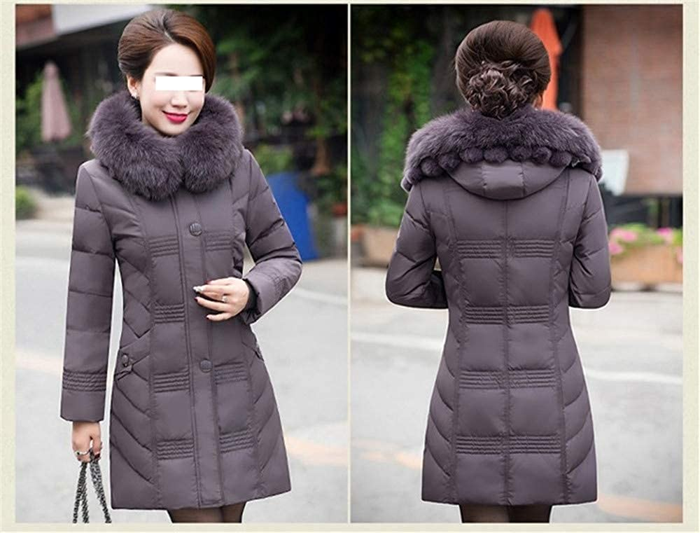Dotoo Winter 80/% White Duck Down Middle-Aged Ladies Down Jacket Long Down Jacket