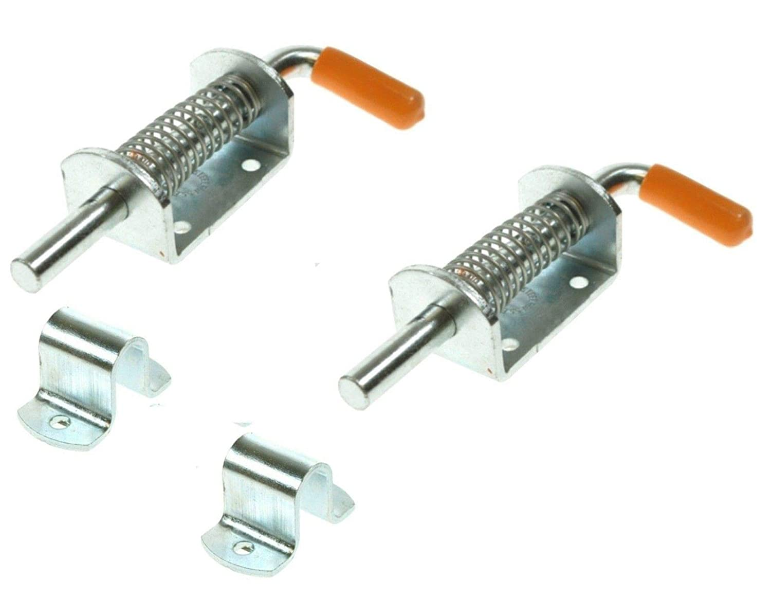 2 x SPRING LOADED BOLTS WITH LATCHES TRAILER HATCH DOOR MP81410//81310 MAYPOLE