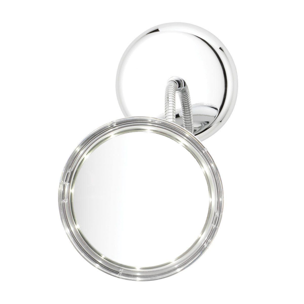 Danielle L.E.D. Goose-Neck 3-in-1 5x Magnification Vanity Mirror, Chrome