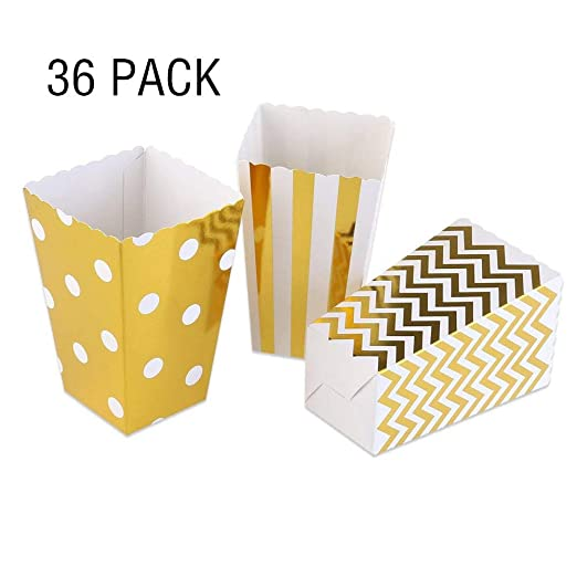 YOUXIN Cajas de Palomitas de maíz Bolsas de cartón para ...