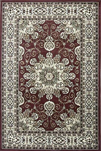 Msrugs Red Traditional Area Rug 8×10 Bedroom Living Room Dining Oriental Vintage Persian Style Indoor Area Rug Nairobi Collection