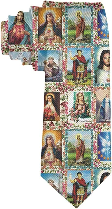 MrDecor - Corbata Unisex de Seda con Imagen de Santos católicos ...