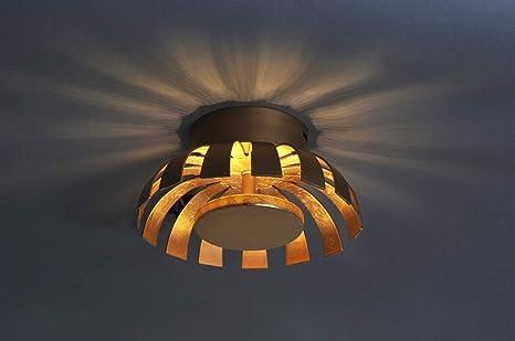 LED Deckenleuchte Gold Design Ø26cm 3000K Wohnzimmer ...