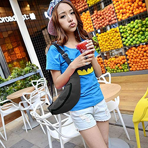 Waist Black Phone Woman Man Small For Style Flap Fashion match Crossbody Color Solid Bag Mobile Multifunctional All qxtaTAnFw
