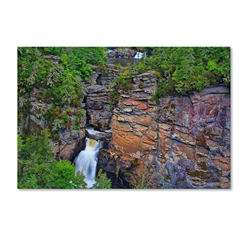 Linville Falls by Bob Rouse, 16x24-Inch Canvas Wall - Natural Linville