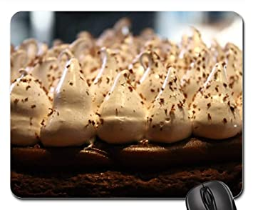 Mouse Pads - Brownie Pie Cake Cream Dulce De Leche Baked Fresh