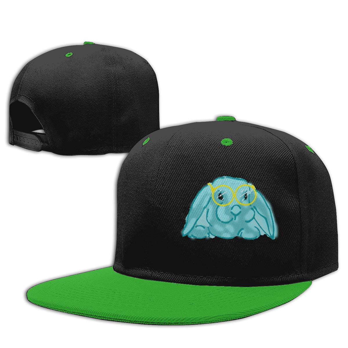 Gafas Azules Conejo Gorra de Hip Hop algodón béisbol Gorra niño y ...