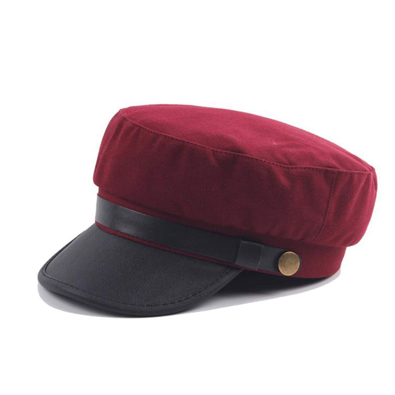 Vintage Newsboy Cap Men Navy Blue Retro Women Baker boy Spring British Classic Gatsby Flat Hats