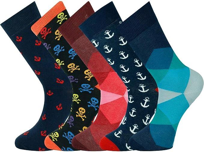 Mysocks® Calcetines tobilleros de 5 pares de hombres: Amazon.es: Ropa y accesorios