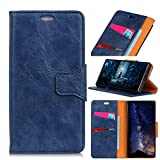 Scheam iPhone 9 Flip Cover, Case, Flap Card Slot [Stand Feature] Leather Wallet Case Vintage Book Style Magnetic Protective Cover Holder for iPhone 9 - Blue