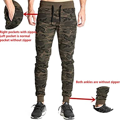 fb0fedc9a70d22 EVERWORTH Men's Camo Casual Joggers Pants Gym Training Fitness Running  Trousers