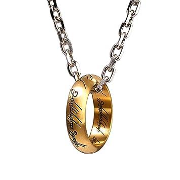 Señor de los anillos un anillo de collar colgante ...