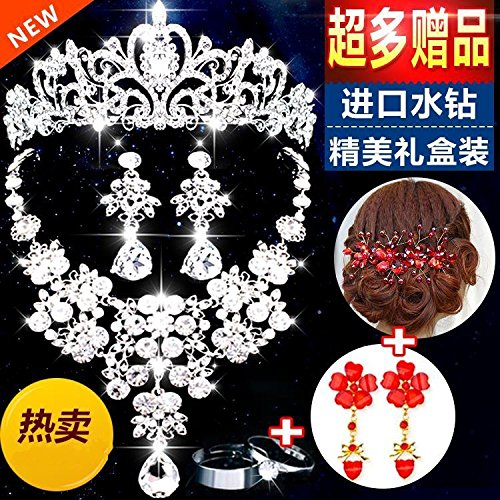 Generic Korean crown tiara tiara wedding hair accessories rhinestone tiara shadow estate jewelry bridal headdress hair accessories Korean suit