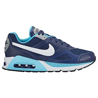 the latest 3787b e3195 Nike Youth Air Max IVO Blue Silver Leather Trainers 38.5 EU: Amazon ...