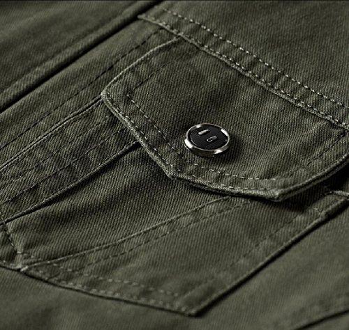 1 Lunga Casuale Outwear Manica Zip Degli Cappotto Giacca Uomini Full Ttyllmao pvHqSwZv