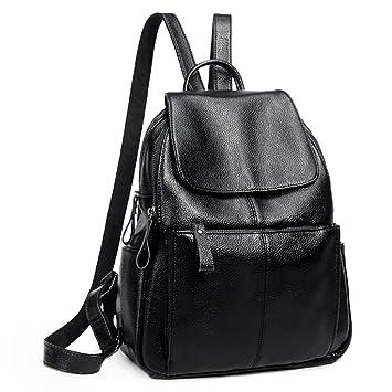 5de78600d7803 UTO Fashion Schultertasche Rucksack PU Leder Damen Mädchen Frau RUCKSÄCKE Schule  Reise Tasche
