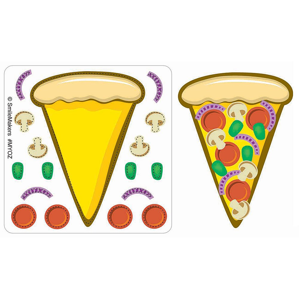SmileMakers Make-Your-Own Pizza Stickers 75-pak SmileMakers Inc