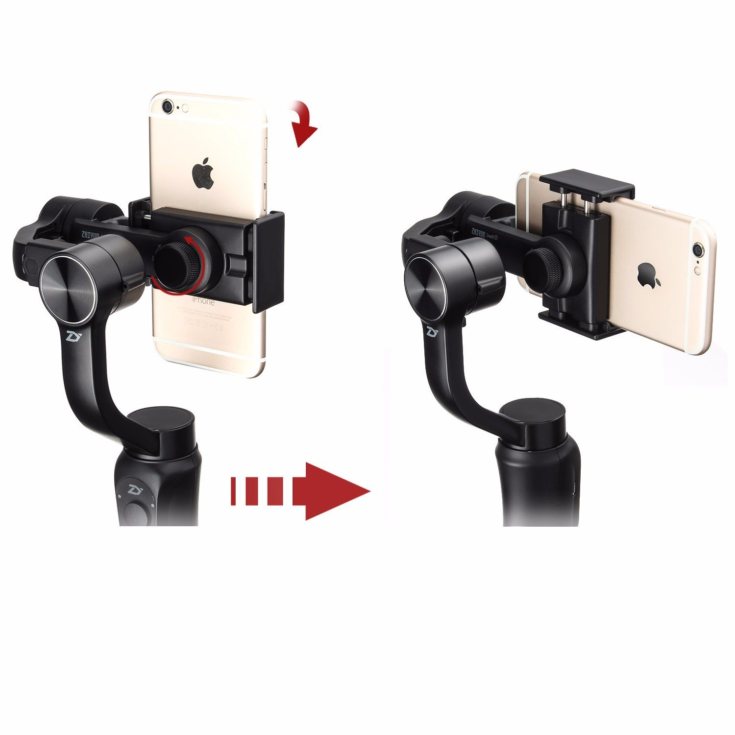 Zhiyun Smooth Q W Plate 3 Axis Handheld Gimbal Stabilizer For Tech Smartphone Gopro Hero 6 5 4 Xiaomi Yi Action Camera Wireless Control Vertical