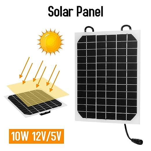 Decdeal Solar Panel Cargador 10W 12V / 5V Puerto USB: Amazon ...