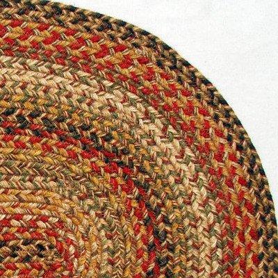 "Homespice Decor HARVEST Braided Jute 15/"" Round Chair Pad"