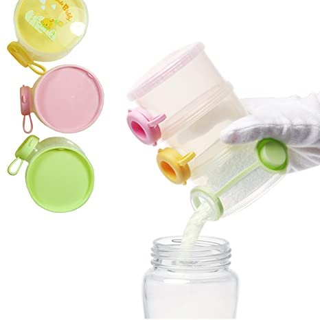 Dispensador de leche maternizada bebé leche en polvo recipiente de almacenamiento de recipientes para aperitivos apilable