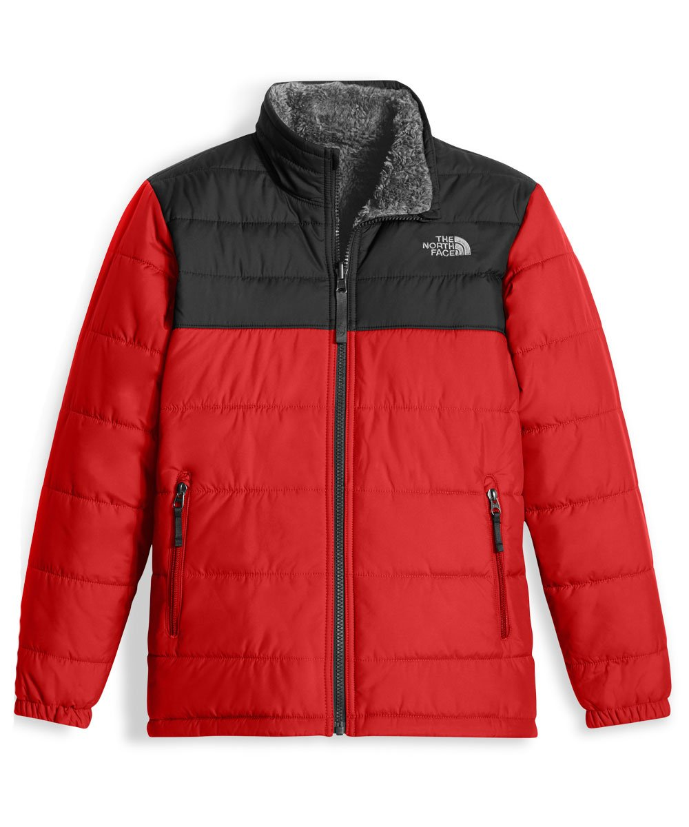 The North Face Big Boys' Reversible Mount Chimborazo Jacket - red, m/10-12 by The North Face