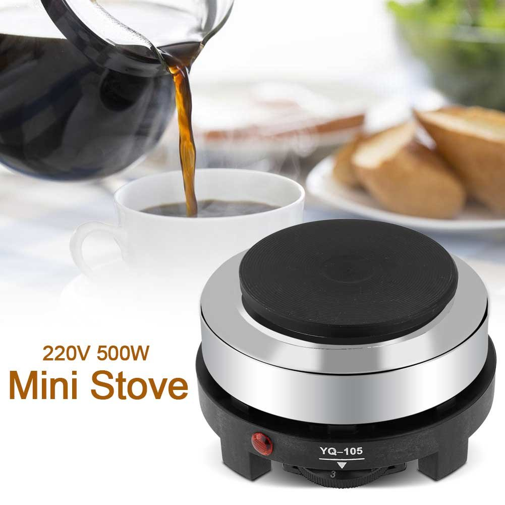 Mini Estufa Eléctrica, 220 V 500 W Plato Eléctrico Portátil Multifunción para Té y Sopa de Fondue Hervida, etc.: Amazon.es: Hogar