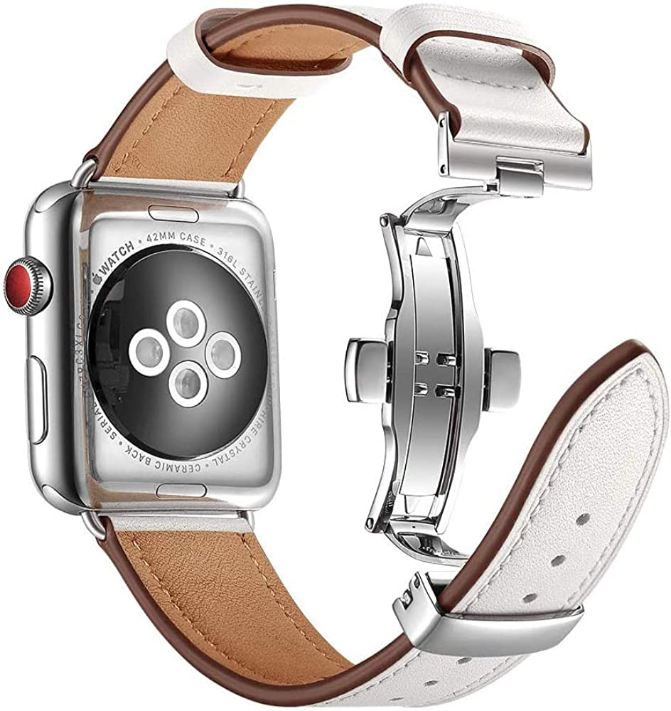 Arkrdiif Compatible with Apple Watch Bands 38mm Women Series 3 4 5 6 Leather Watch Band 44mm 40mm 42mm 38mm Watch Bands for Women Christmas Watch Band for Iwatch