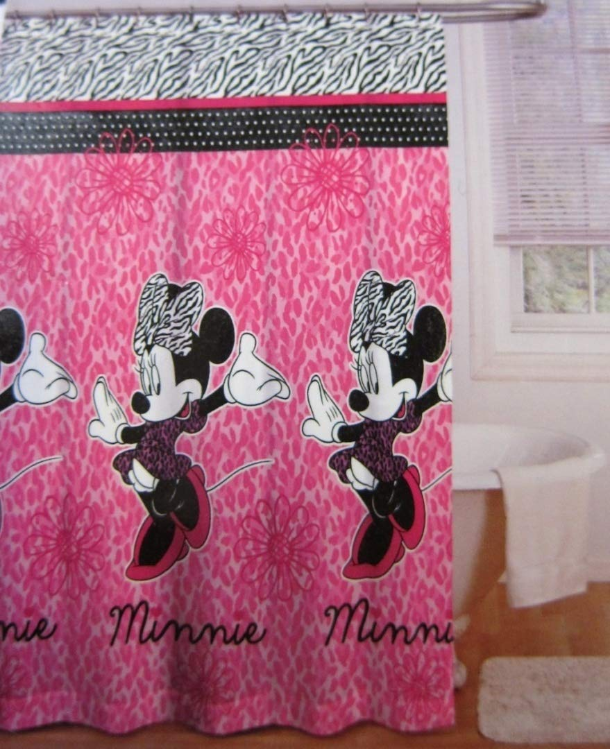 Disney Minnie Mouse Fabric Shower Curtain 70-Inch By 72-Inch Jay Franco and Sons inc