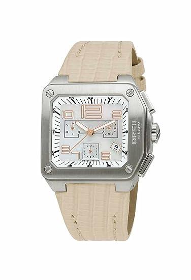 Breil BW0398 - Reloj cronógrafo de mujer de cuarzo con correa de piel beige (cronómetro