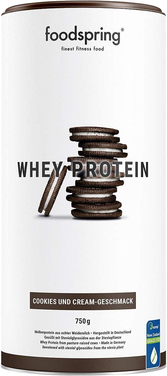 foodspring Proteína Whey, Sabor Cookies & Cream, 750g ...