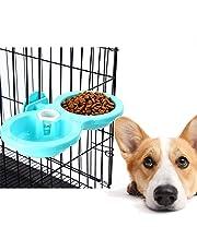Queta - Cuenco Doble para Colgar Mascotas, Cuenco para Perros, Gatos, Cachorros,