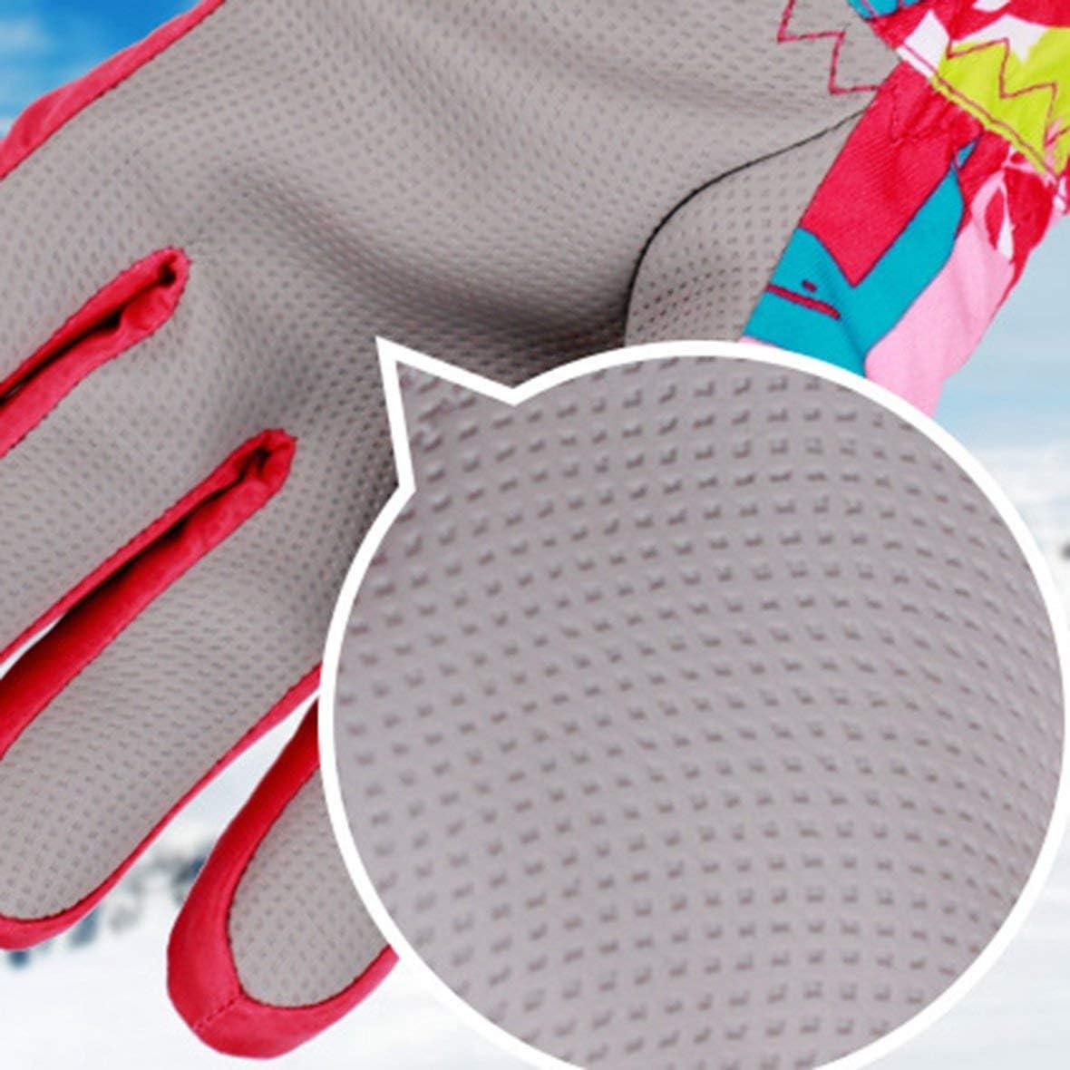 Children Skiing Gloves Waterproof Windproof Non-Slip Thick Warm Gloves Mittens