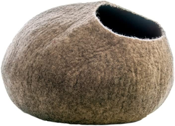 Le Sharma Cat Cave, 100% Wool, Eco-Friendly, Handmade Cat Bed, Original Cat Cave. Large Size