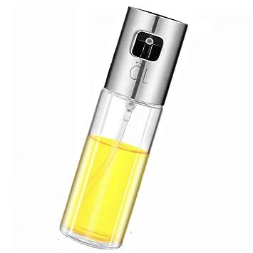 Spray de aceite de oliva, botella de aceite de vidrio de grado ...