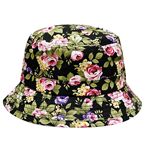 City Hunter Rose Garden Bucket Hats (BD1190 - Black - SM - Fashion Stores City Garden