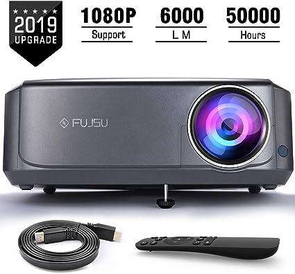 Proyector, FUJSU 6000 Lúmenes Proyector Full HD 1920x1080P Nativo ...