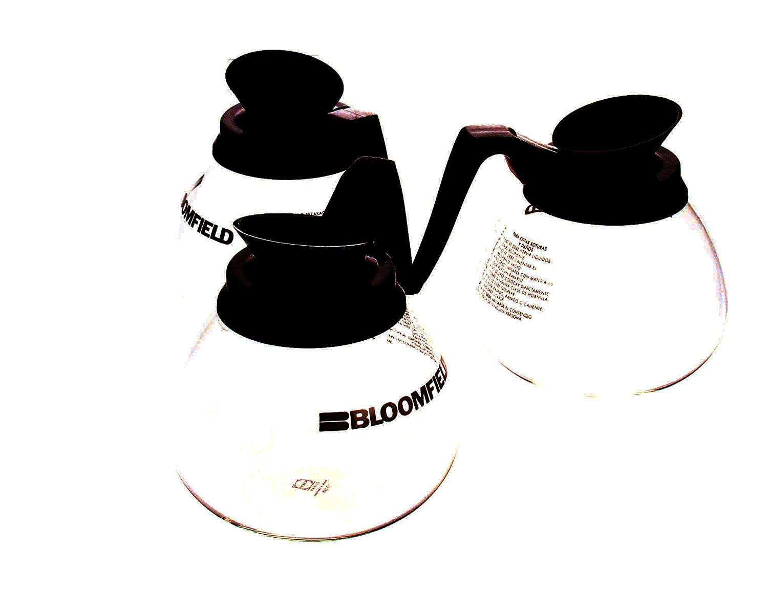 Bloomfield Reg8903Bl3, Decanter, W/Black Handle 3Pk
