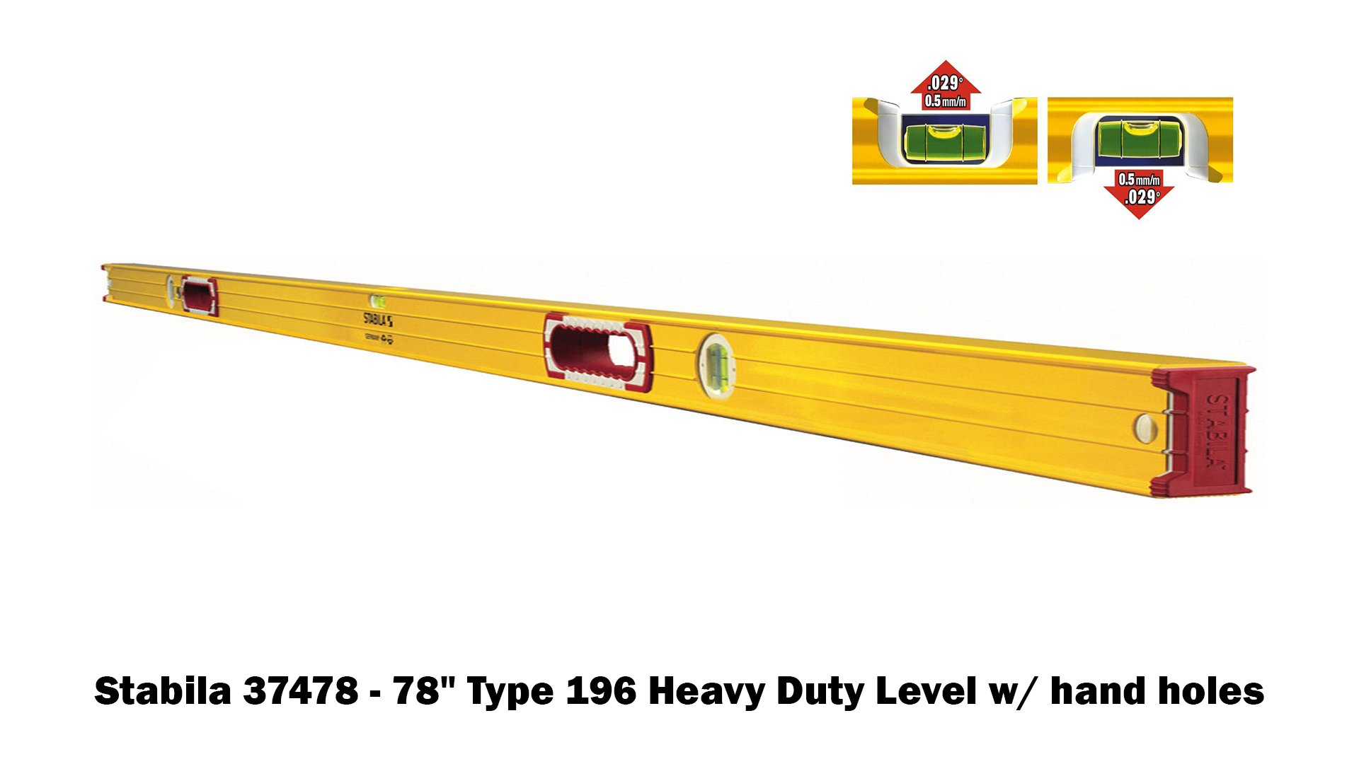 Stabila 196 Level Set Kit - 78''/58''/32''/24''/16'' Torpedo and Case by Stabila (Image #6)